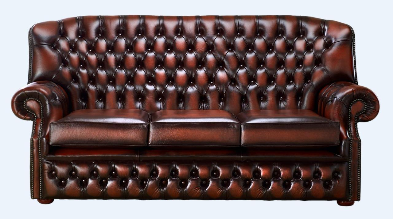 Chesterfield Monks 3 Seater High Back