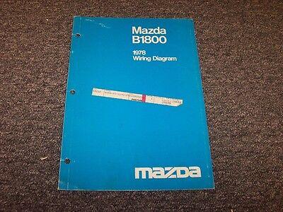 1978 Mazda B1800 Pickup Truck Factory Original Electrical ...