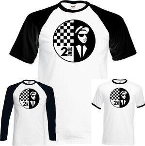 The-Specials-Hombre-2Tone-Camiseta-Rude-Boy-Dos-Tonos-2-Ska-Musica-Records-Top