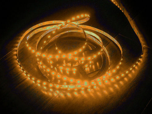 BOBINA 5MT STRIP LED 5050 12V IP33 LUCE ARANCIONE Orange