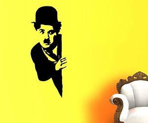 Wandtattoo-Charlie-Chaplin-Filmstar-Aufkleber-Komiker-Schauspieler-FUN-1T041-1
