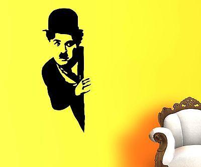 Wandtattoo Charlie Chaplin, Filmstar Aufkleber, Komiker Schauspieler FUN 1T041_1