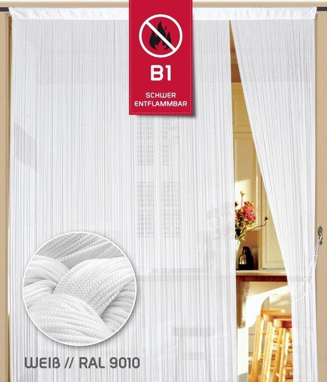 Fadenvorhang Fadenstore Messe B1 schwer entflammbar entflammbar entflammbar 150 cm x 500 cm (BxH) weiß K a81f5d