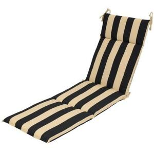 Details About Black Cabana Stripe Outdoor Chaise Lounge Cushion
