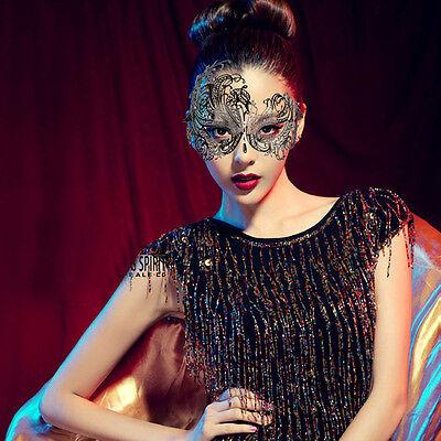 Dancing Party Princess Masquerade Mask Rhinestone Laser  Black  Party New