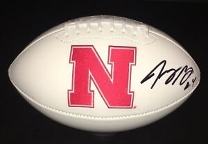 Nebraska-Cornhuskers-TOMMY-ARMSTRONG-JR-Signed-Autographed-Logo-Football-COA