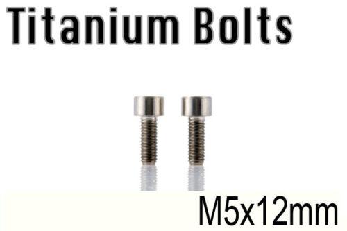 x2 Titanium Ti Bolt M5x12mm DIN912 Head Hex M5 12L Bicycle Screw US Seller