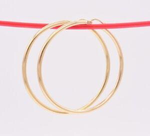 2-1-4-034-2-5mm-X-50mm-Large-Shiny-Plain-Hoop-Earrings-REAL-10K-Yellow-Gold