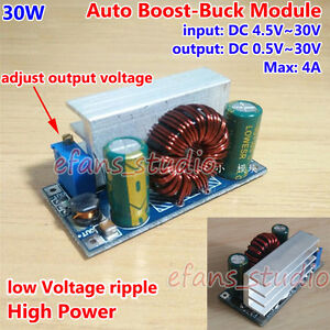 30W CC CV DC 5V-30V to 1V-30V 24V 12V 4A Auto Boost//Buck Step Up//Down Converter