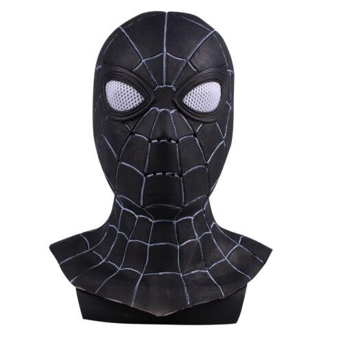Avengers Infinity War Spiderman Mask Cosplay Black Spiderman Superhero Mask Prop