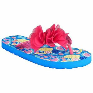 John Lewis Summer Holiday Flip Flops Tropical Floral Size