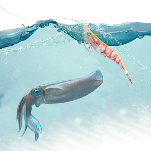 10pcs Cloth Bag Octopus Squid Cuttlefish Jig Fishing Bait Hook Prawn Shrimp Lure