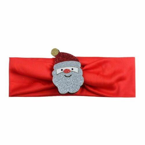 Weihnachten Stirnband Santa Claus Mädchen Baby Haar Zubehör Bands kinder Ki Z7M1