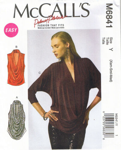 Cowl Neck Pullover Top Draped Front Palmer Pletsch Sewing Pattern 4 6 8 10 12 14