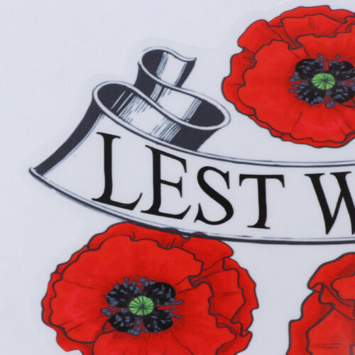 Lest We Forget Red Poppy Day November 11 Remembrance Armistice Day Sticker Car