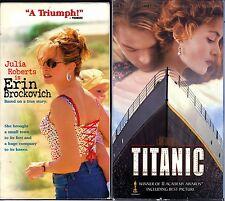 Erin Brockovich (VHS, 2000) & Titanic - 2 Romantic VHS