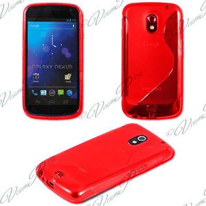 Cover-Case-TPU-Silicone-Gel-S-LINE-Samsung-Galaxy-Nexus-i9250-Red