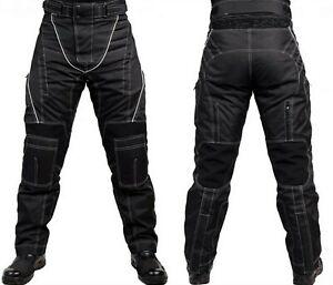 Motorradhose-mit-Protektoren-Herren-Textil-Motorrad-Jacke-Roller-Gr-S-7XL