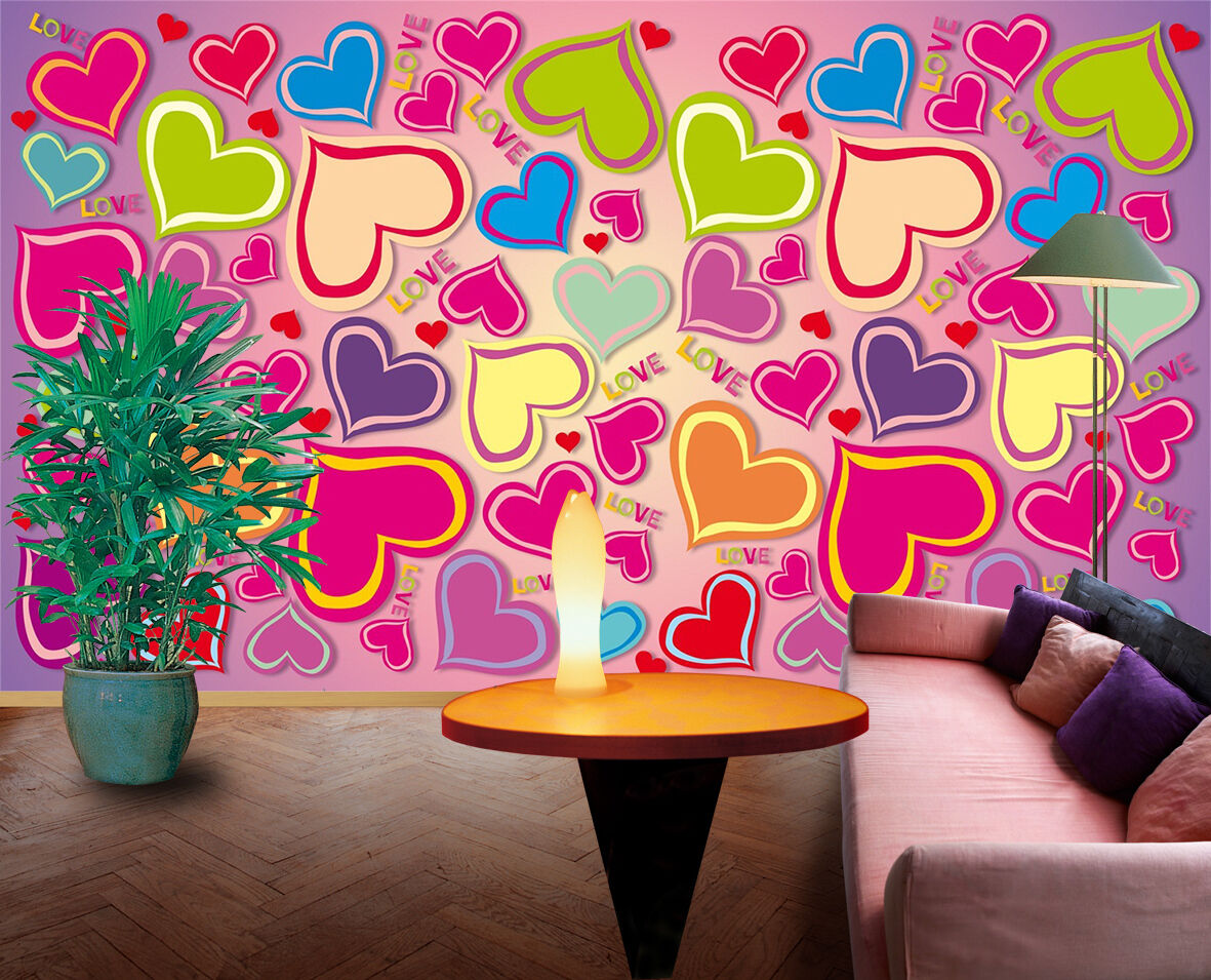 3D Heart-shaped Pattern 1325 Paper Wall Print Wall Decal Wall Deco Indoor Murals