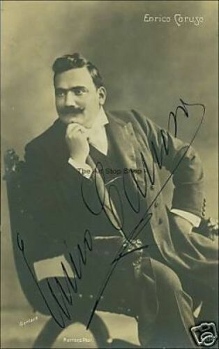 Enrico Caruso autograph photo print
