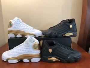 low priced 9c27e 393b6 Details about Nike Air Jordan Finals Pack BG Retro 13/14 DMP White Gold  Size 4.5Y Sz 6 Women's