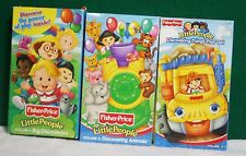 Lot 3 Fisher Price Children's VHS Videos Things That Go Animals Big Discoveries