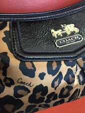 Genuine Coach Handbag Purse Leopard Animal Print