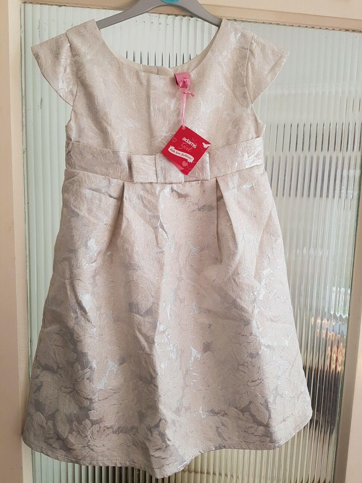 9 Years Ivory Silver Bridesmaid Smart Party Dress Adams BNWT
