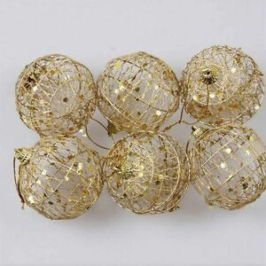 Ebay Christmas Baubles.Details About Round Ball Christmas Baubles Ornament Hanging Gift Party Decor Xmas Tree Craft