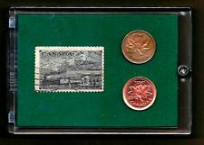 1851 - 1951, Trains of Canada, Commemorative Stamp and Coin Set