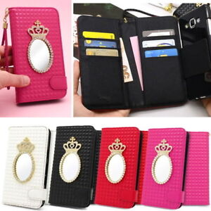 Mirroring-Wallet-Case-for-Samsung-Galaxy-A8-2018-A7-A5-J7-J5-J3-2017-On7-2016