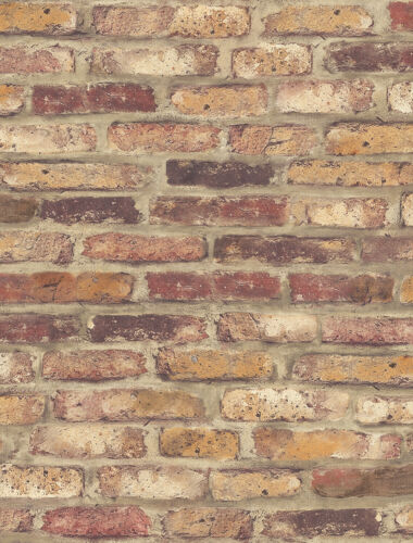 """20.5/"""" x 18/' Red Brick Peel and Stick Removable Self Adhesive Wallpaper Roll"""