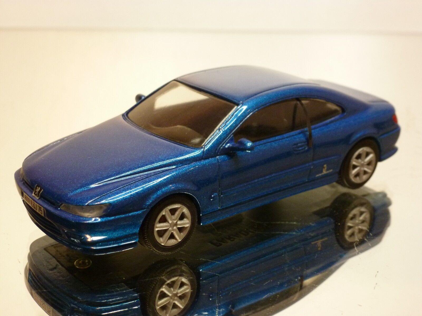 PARADCAR PEUGEOT 406 - blueE METALLIC 1 43 - EXCELLENT - 4+5