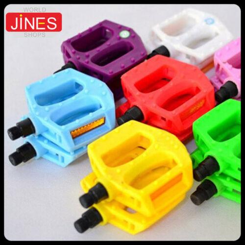 1 Pair Color Plastic Platform Pedal BMX MTB Bike Bicycle Cycling Bearings Pedals