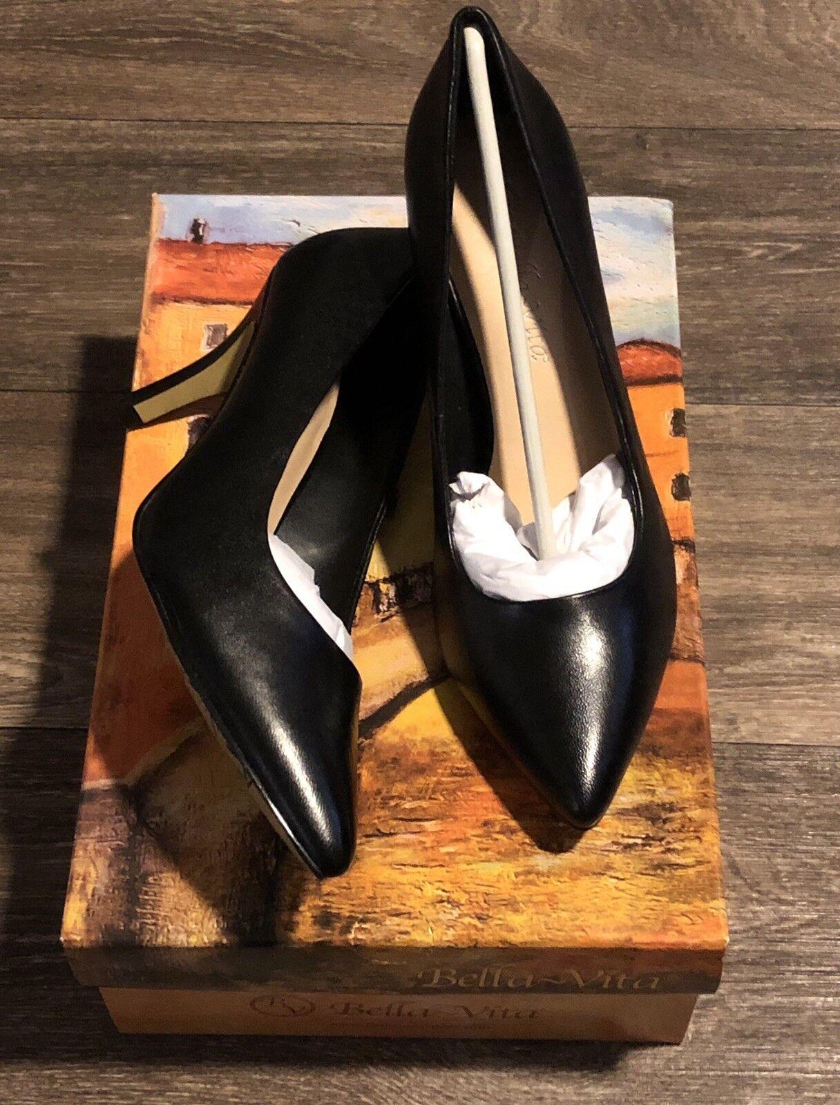 Bella Vita Black Black Black Heels SZ 9 NWB c09ecb
