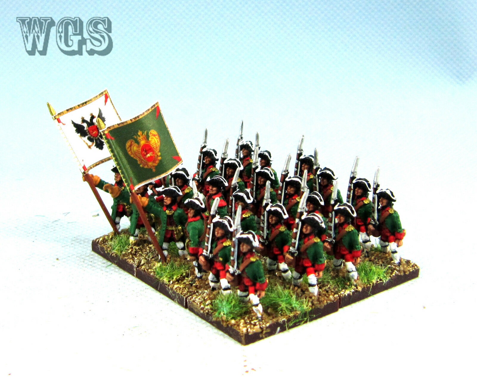 15mm SYW Seven Years War painted Russian Musketeer Btln RA13