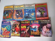 R.L. STINE LOT OF 9 PAPERBACKS GOOSEBUMPS, FEAR STREET Ghosts Hitchhiker RL PB
