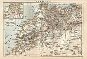 Cartina Stradale Marocco Gratis.B0160 Marocco Carta Geografica Antica Del 1902 Antique Map Ebay