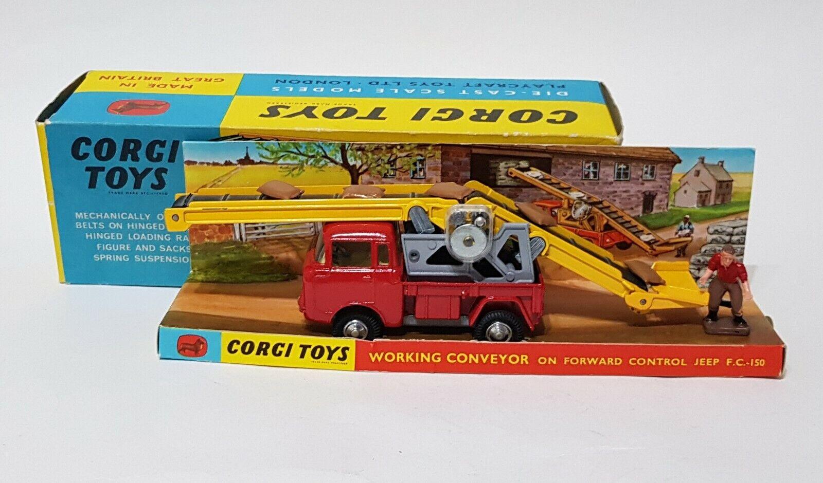 Corgi Toys 64, Working Conveyor on Forward Control Jeep, - Superb mint Condition