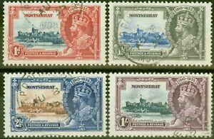 Montserrat-1935-Jubile-Ensemble-de-4-SG94-97-Tres-Bien-Utilise