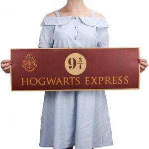 Poster cartello artistico vintage binario 9 3/4 Hogwarts Harry Potter Home Decor