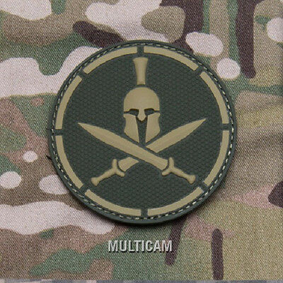 Mil-Spec Monkey Spartan Helmet Embroidered Morale Patch