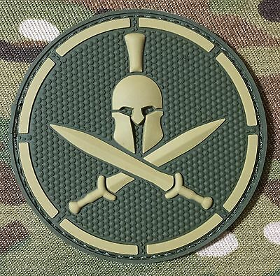 ARABIC GEAR COMBAT BLACK OPS RED  BADGE MORALE PVC HOOK PATCH