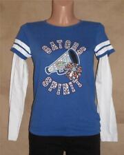 Girl's Florida Gators Blues Cotton Long Sleeves T-shirt Top Junior S  Child L