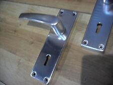 Chrome Cambridge Lock Door Handles With Screws And Spindle