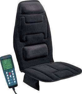 Masajeador de espalda y cuello en silla para auto con for Coche con silla para auto