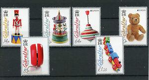 Gibraltar 2015 MNH Europa Old Toys 6v Set Wooden Trains Teddy Bears Stamps