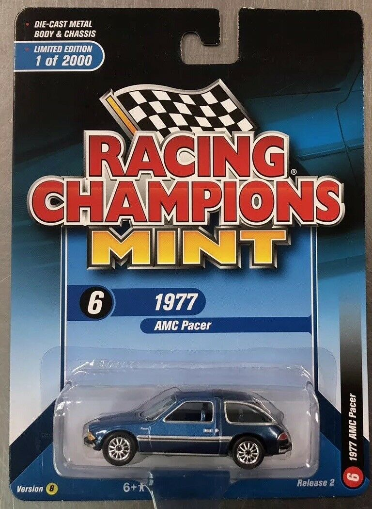 RACING CHAMPIONS MINT 1977 AMC PACER blueE RELEASE 2 VERSION B. FREE SHIPPING.