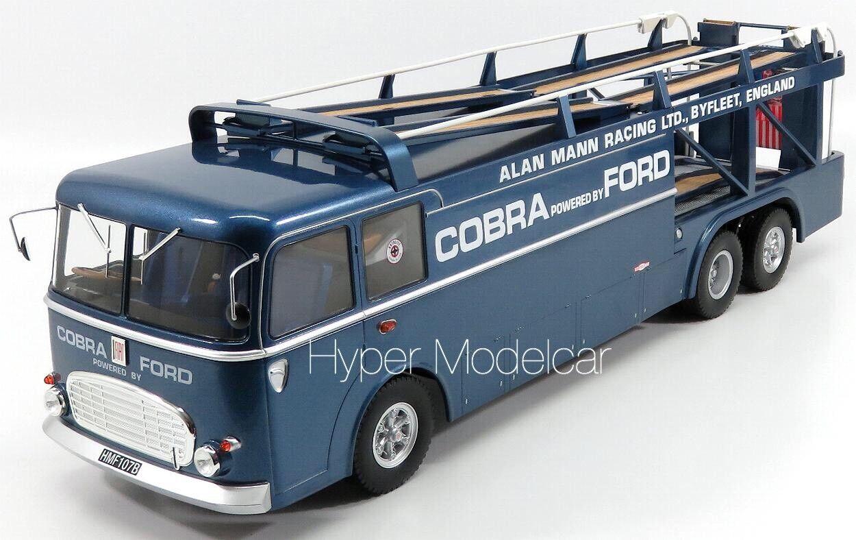 NOREV 1 18 Fiat Bartoletti 306 2 3-Assi Truck Ford Shelby Cobra 1962 Art. 187700