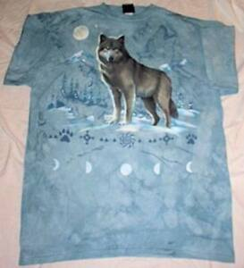 WOLF-T-SHIRT-with-MOON-PHASES-SIZE-ADULT-XXL-NEW-IN-PACKAGE-ASTRONOMY
